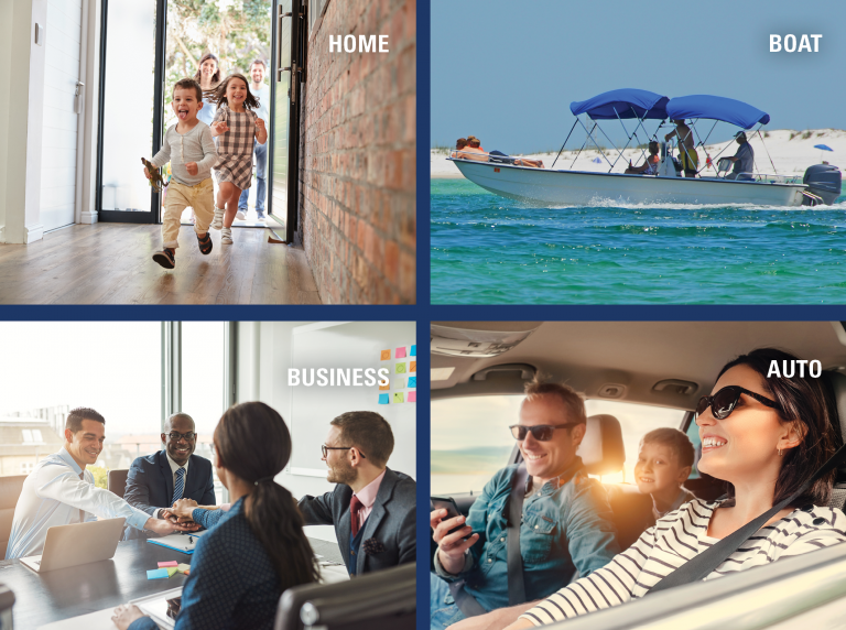 Home, boat, business, auto insurance
