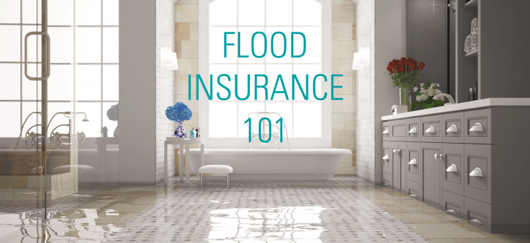Flood Insurance 101, tub flooded in modern bathroom